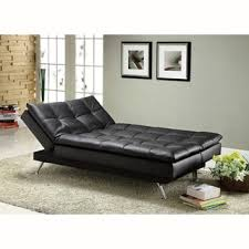 furniture of america modern tufted futon sofabed with storage