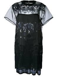 sacai tribal lace organza dress 778 buy ss17 online fast