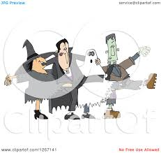 halloween clipart ghost clipart of a halloween witch dracula vampire ghost and