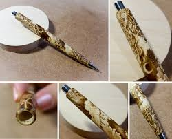 pyrography wood burning on wooden pen wood projects