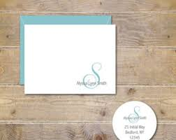personalized notecards personalized note cards etsy