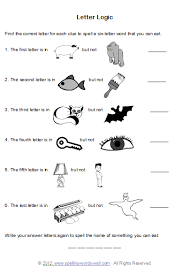 brain teaser worksheets for spelling fun