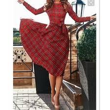 online get cheap red skater dress full sleeves aliexpress com
