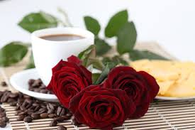 Beautiful Coffee Cups Flower Good Morning Flowers Drink Photography Nice Roses Red