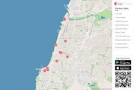 maps update 10001471 tourist map of tel aviv u2013 maps of tel aviv