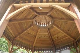 bayside panelized octagon gazebo 10 bayside cedar gazebos