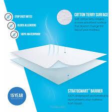 Home Design Waterproof Mattress Pad Lucid Premium Waterproof Mattress Protector Walmart Com