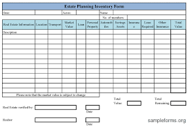 7 best images of asset inventory list for estate personal