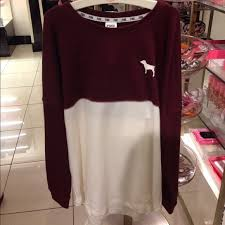 pink vs sweaters s secret maroon pink nation sweater vs on the hunt
