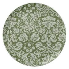 bridal shower plate moss green damask dinner plate bridal shower plates