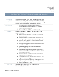 Sample Resume For Process Worker For Job Search Resume Writing Interview Community Service On