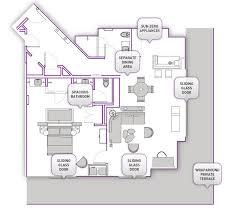 Caesars Palace Floor Plan Las Vegas Suites Wraparound Terrace Suite Cosmopolitan Las Vegas