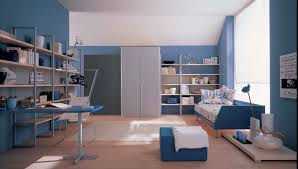 interior exterior plan blue theme for kid u0027s study room
