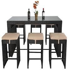 Rattan Wicker Patio Furniture with Amazon Com Best Choice Products 7pc Rattan Wicker Barstool Dining