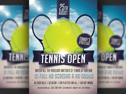 tennis tournament flyer template by christos andronicou dribbble