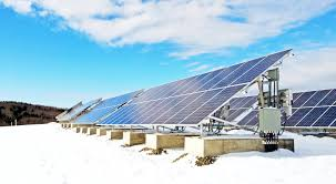 solar power solar panels shed snow even in winter they make power