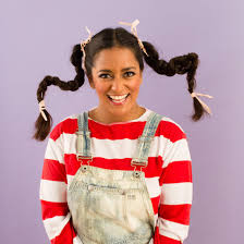 Pippi Longstocking Costume 20 10 Minute Halloween Hair Hacks Brit Co