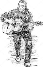 street musician sketch u2014 stock vector chronicler101 106947224
