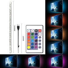 home theater backlighting simpome rgb usb led tv backlight strip kit 1 x 3 28ft multicolor