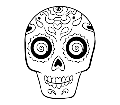 how to draw a sugar skull step by step tutorial easy drawing