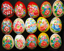 easter eggs decoration painted easter eggs decoration of various colors