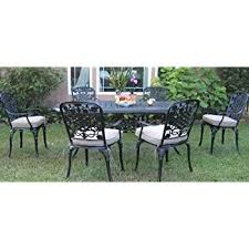 Aluminum Patio Tables Sale Amazon Com Cbm Outdoor Cast Aluminum Patio Furniture 7 Pc Dining