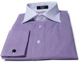 labiyeur men u0027s slim fit french cuff striped dress shirt purple