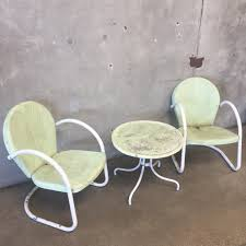 Vintage Patio Furniture - vintage outdoor motel chairs u0026 table u2013 urbanamericana