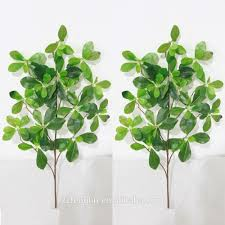top quality artificial green leaves real touch artificial leaves