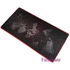 Gaming Desk Pad 900x400x3mm World Map Prints Extended Gaming Wide