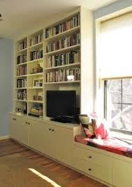 Media Room Built In Cabinets - custom bookshelves nyc brooklyn built in shelving u2014 urban homecraft