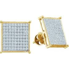 real gold earrings diamond stud earrings princess cut back real gold earrings mens