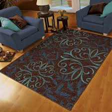 Damask Kitchen Rug Luxury Idea Blue And Brown Area Rug Simple Design Spring Special