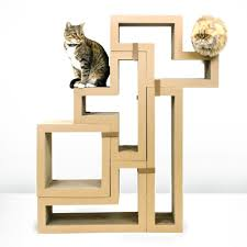 Cat Trees For Big Cats Furniture Accessories Modular Contemporary Wooden Cat Tree Book