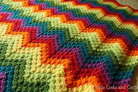 katie cooks and crafts rumpled ripple rainbow crochet baby afghan