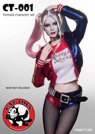 1 6 scale figure doll female joker harley quinn seamless body 12