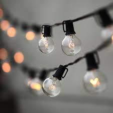 light bulb string lights 25ft globe bulb string lights niurain