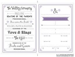 wedding ceremony programs diy 27 free wedding program templates you ll