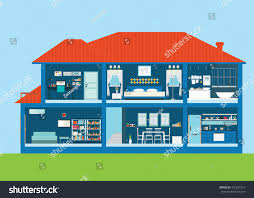 Home Design Interior Exterior Modern Home Design Exterior Interior Room Stock Vector 431237251