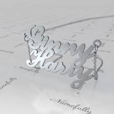 Couple Name Necklace Personalized Couple Names Necklace In Sterling Silver