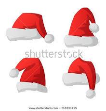 santa red christmas hat vector illustration stock vector 518333455