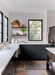 black kitchen countertops with white cabinets kitchen with gray cabinets why to choose this trend decoholic