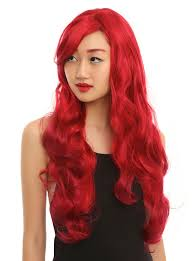 spirit halloween wigs long red hair wig topic