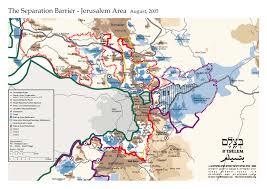 Border Patrol Checkpoints Map Nahostkonflikt Israel Palästina