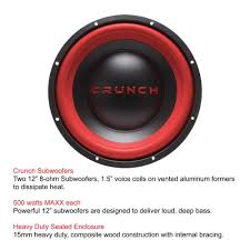 subwoofers on sale black friday crunch amplified mobile subwoofer dual 12