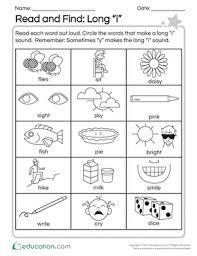 long vowels worksheets education com