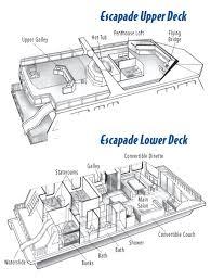 escapade exceptional houseboats floor plans alovejourney me