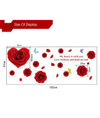 oren empower red rose wall sticker for home decoration buy oren