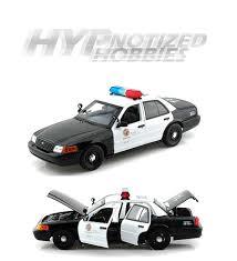 tomica toyota estima daron 1 18 lapd los angeles police diecast black white 60326mj ebay