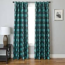 Gray And Turquoise Curtains Turquoise Grommet Curtains Rabbitgirl Me